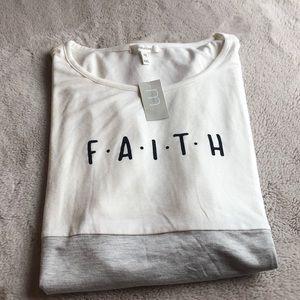 NWT FAITH 🙏🏽 color block tee